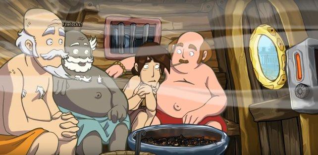 In der Sauna müsst ihr den Schweiß zu eurem Verbündeten machen.