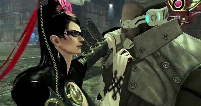 Bayonetta bringt ihre Gegner gerne zum Schweigen.