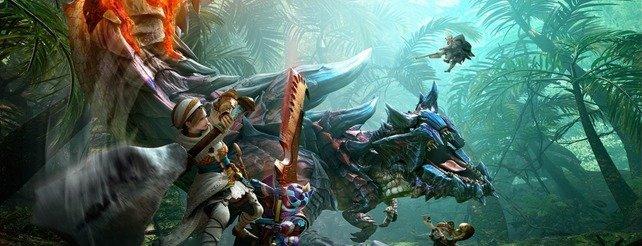 Große Waffe trifft auf noch größeres Monster: Zimperlich ist Monster Hunter Generations nicht.