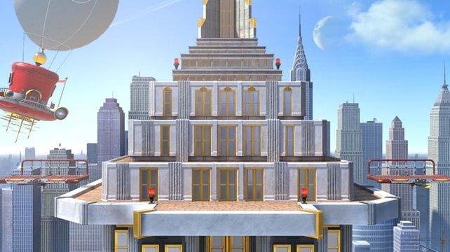 New Donk City aus Super Mario Odyssey ist eine der wenigen komplett neuen Stages im Spiel.