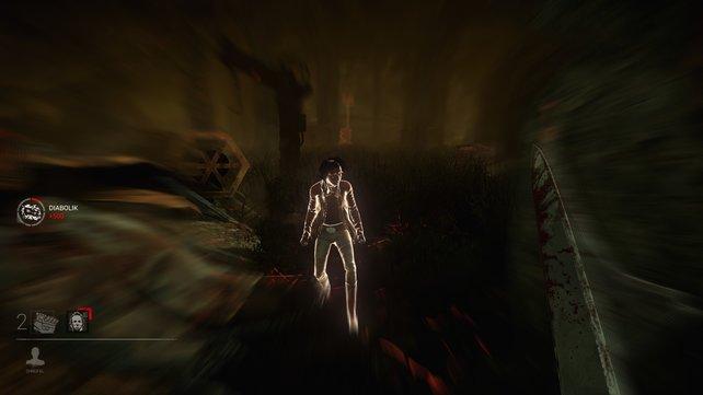 Diabolik ist die Spezialfähigkeit des Wandlers. Setzt er sie ein, dann sieht er die Überlebenden auf der Map so leuchten und erhält dabei Stalking-Punkte.