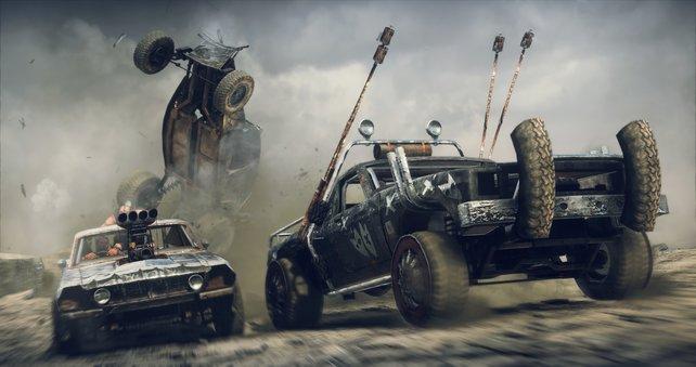 Die Autokämpfe sind der Höhepunkt des Spiels.