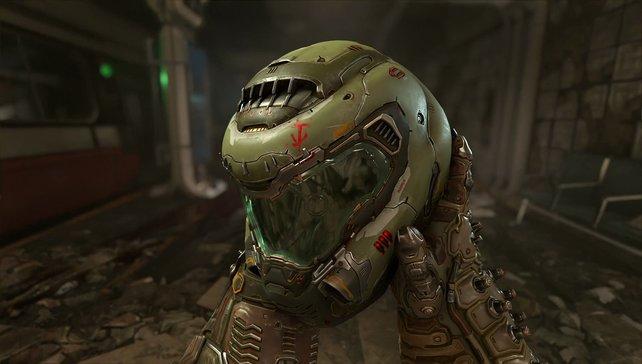Ein Helm, die Welt vor Dämonen zu retten: Das neue Doom weiß zu überzeugen.