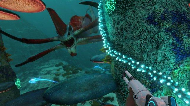 Der Reaper-Leviathan sorgt in Subnautica für einige Jumpscares.