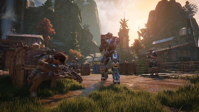 Vorbildlich: In Gears of War 4 wählt ihr zwischen mehr Details oder besserer Bildrate.