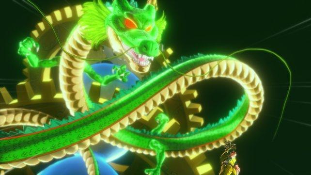 Der Drache Shenlong holt euch in die Welt der Z-Krieger.
