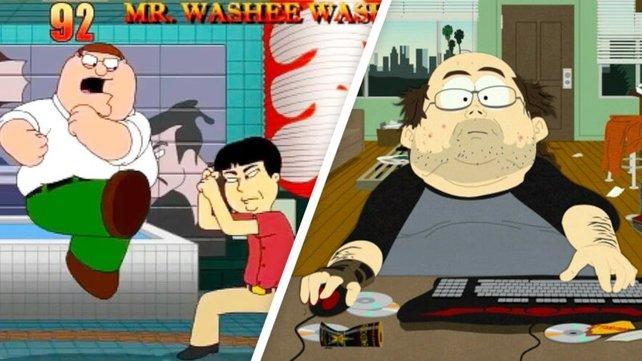 Auch Family Guy und South Park verwenden liebend gern Videospiel-Referenzen. Bildquelle: 20th Century Fox / Comedy Central.