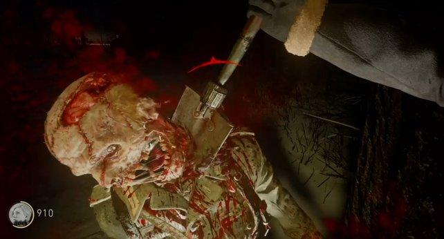 Die Schaufel ist euer neuer bester Freund im Zombie-Modus. Der schwere Angriff ist langsam und riskant, kann euch aber mit tollen Boni belohnen.