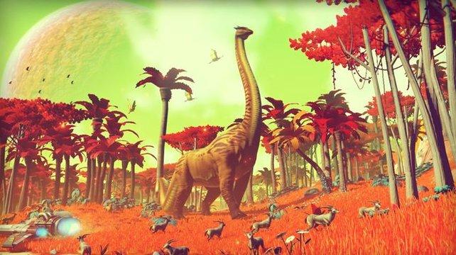 Planeten wie diese sind in No Man's Sky komplett zufallsgeneriert.