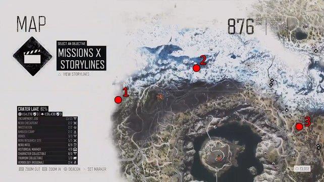 In Crater Lake gibt es 3 Horden.
