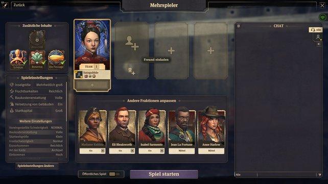In der Mehrspieler-Lobby von Anno 1800 habt ihr die Wahl zwischen vielen unterschiedlichen Optionen und Siegbedingungen.