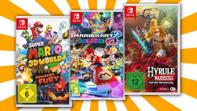 Nintendo Switch: Holt euch nur noch heute 3 Top-Spiele für 111 Euro.