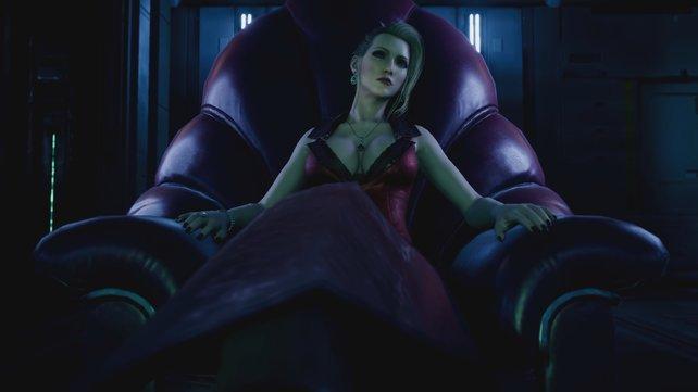 Scarlet, die Leiterin der Shinra-Waffenentwicklung, hat keine Geduld für Inkompetenz und Ungehorsam.