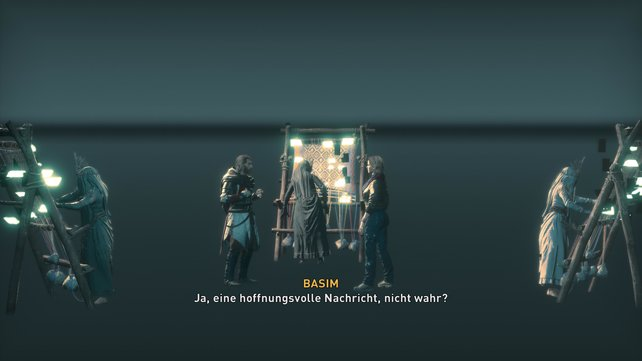 In den Fängen von Yggdrasil trifft Layla unter anderem auf die drei Nornir vor allem aber auf Basim.