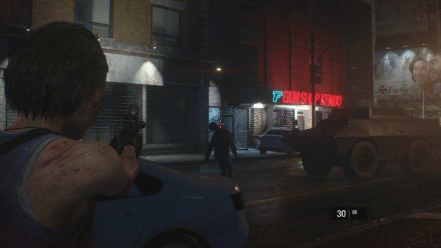 Von der Tiefgarage der Polizeistation aus ist der Gun Shop Kendon nur einen Katzensprung weit entfernt.