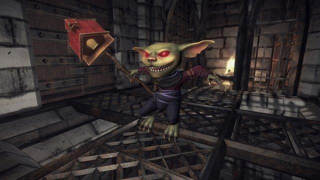 Seht euch bitte mal genau an, was die Waffe in der Hand des Goblins darstellt.