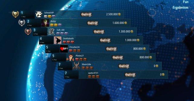 Das Online-Turnier kann ziemlich hart sein, trotzdem könnt ihr hier viele Truhen bekommen.