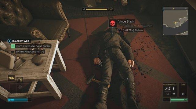 Unter der Leiche von Vince Black findet ihr weitere Informationen zu SM07: Black ist weg.