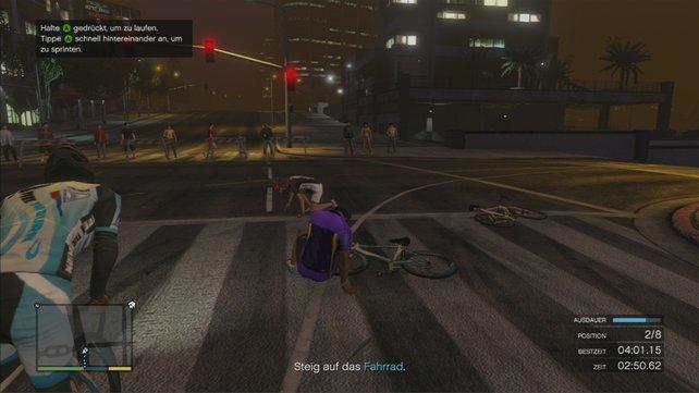 ... Radfahren, aber hier ist man nicht vor Unfällen gefeit.