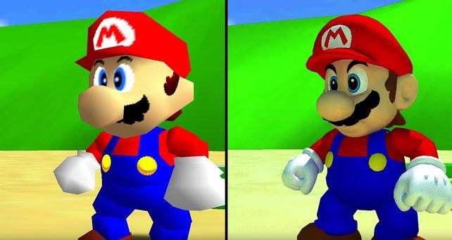 25 Jahre nach Release zeigen Fans, wie gut Super Mario 64 aussehen kann. Bildquelle: Digital Foundry