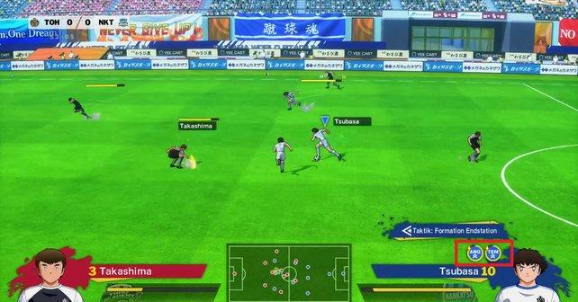 Ob die Zone aktiv ist, seht ihr unten am Bildschirm, über dem Namen eures Spielers.
