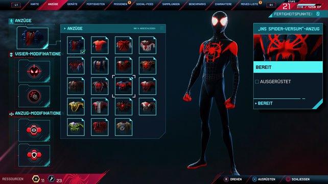 """""""Ins Spider-Versum""""-Anzug."""