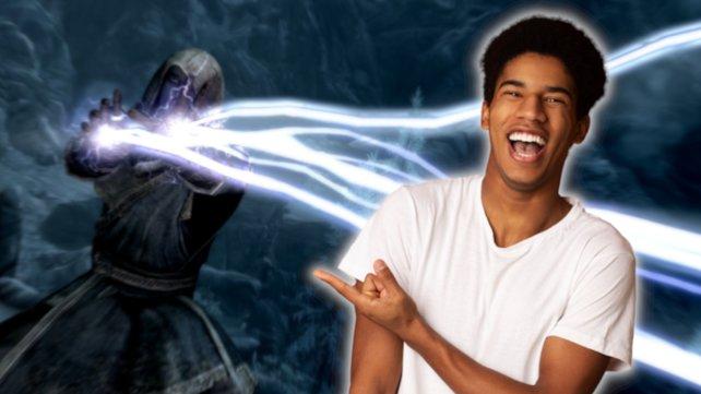 Skyrim-Magier wird gefeiert. Bildquelle: Getty Images/ Prostock-Studio