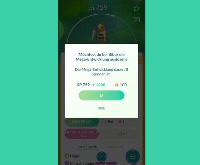 Die Statuswerte von Pokémon werden durch eine Mega-Entwicklung stark erhöht.