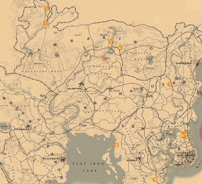 Erkundet den Norden und den Osten der Karte von RDR 2, wenn ihr alle Gräber finden wollt.