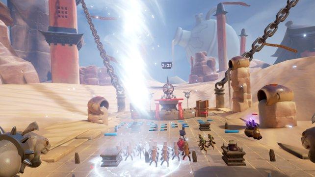 Aus dieser Perspektive finden die Schlachten in Blade & Soul - Table Arena statt. Eine Draufsicht ist nicht vorgesehen.