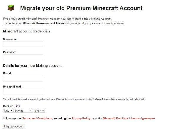 Minecraft: Namen ändern - Hierfür müsst ihr euren Account umwandeln.