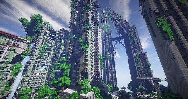 Minecraft: Discord - Um solch monströsen Bauwerke zu vollbringen, ist es hilfreich mit anderen Spielern zusammenzuarbeiten.