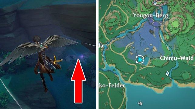 Hier findet ihr den Höhleneingang, der euch zur Barriere führt.