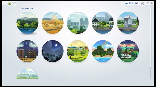 In der Weltenübersicht seht ihr alle verfügbaren Nachbarschaften und könnt zudem zwischen den Welten hin und her reisen.