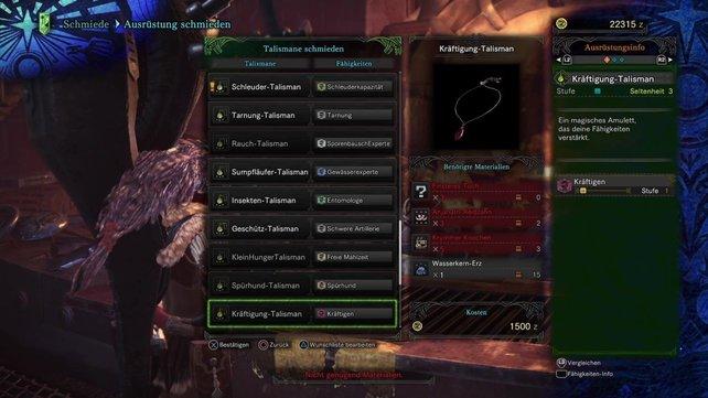 Bei Monster Hunter World findet ihr unzählige Talismane - für welchen entscheidet ihr euch?