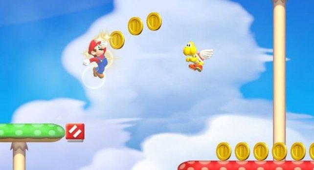 Könnt ihr Prinzessin Peach retten und dabei alle farbigen Münzen sammeln?