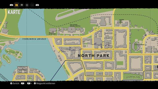 Fundort der Telefonzelle im Nordwesten von North Park.