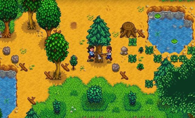 Gemeinsam schaffen! Im Multiplayer von Stardew Valley könnt ihr euch jetzt gemeinsam einem geregelten Leben hingeben.
