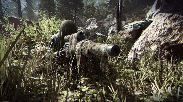 Ein Kill in CoD: Modern Warfare sorgt für hässliche Grafik-Fehler.
