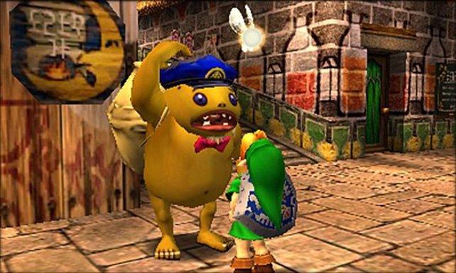 Kein Grund ein dummes Gesicht zu machen: Majora's Mask macht auf dem 3DS eine klasse Figur.