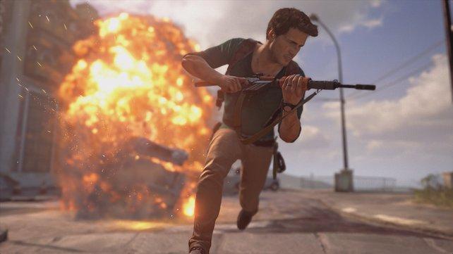 In Uncharted reiht sich eine Action-Szene an die nächste.