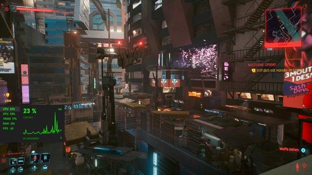 Mithilfe von externen Programmen könnt ihr euch in Cyberpunk 2077 die FPS im Spiel anzeigen lassen.