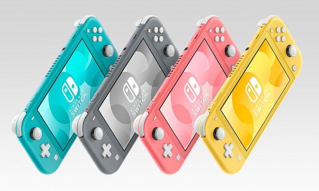 Nintendo stockt die Auswahl an Farben der Switch Lite auf.
