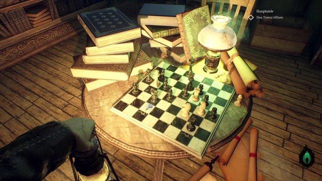 Das Schachbrett verrät euch die zweite Zahl der Kombination.