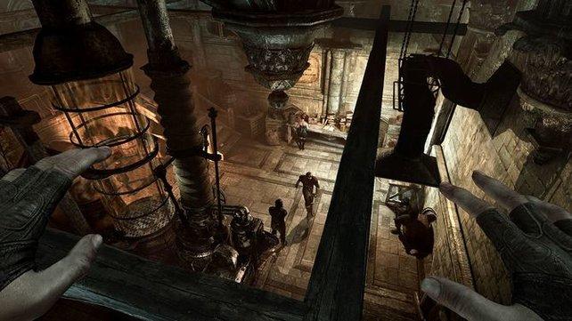 Die Level-Architektur in Thief erlaubt viele verschiedene Herangehensweisen.