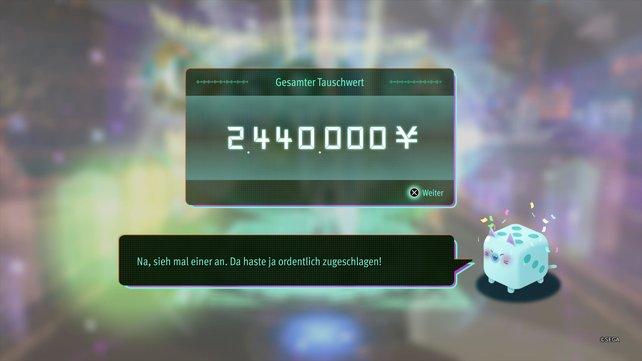 So einen Kontostand sieht man doch gerne. Mit Paradise VR könnt ihr jede Menge Geld farmen.
