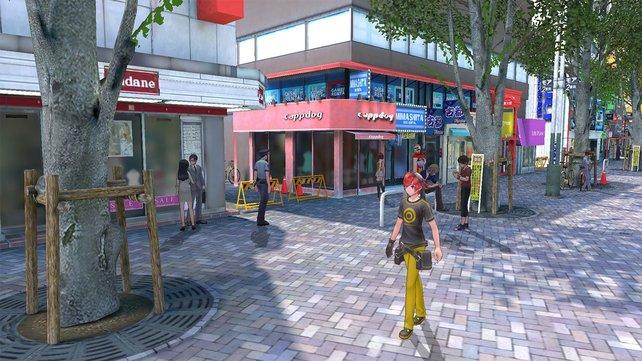 In eurer Heimatstadt Tokio sucht ihr bekannte Orte und Einkaufszentren auf.