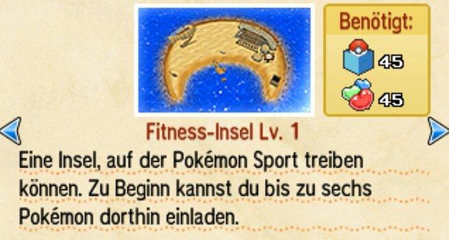 Auf der Fitness-Insel werden eure Pokémon so richtig stark!