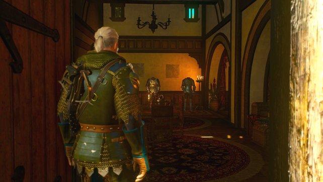 Geralt kehrt ein in sein trautes Heim. Doch eine Kleinigkeit fehlt – die Bilder an der Wand.