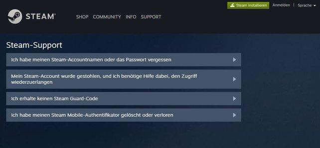 Es gibt mehrere Optionen, aus denen ihr wählen könnt, wenn ihr Probleme beim Login bei Steam habt.
